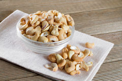 Bowl with cashew Royalty Free Stock Photo