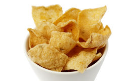 A bowl with cassava chips Royalty Free Stock Photos