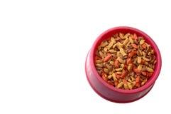 Bowl of cat food Stock Photos
