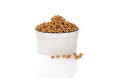 Bowl of cat food Stock Image
