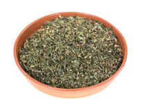 Bowl of catnip Stock Image
