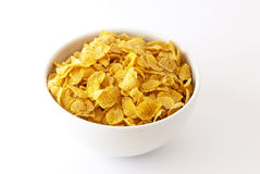Bowl of cereal. On white background Royalty Free Stock Photo