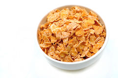 Bowl of cereal 3. Bowl of cereal from elevated view, in high-key style royalty free stock image