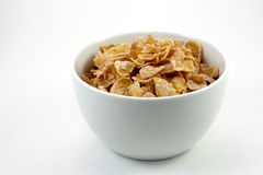 Bowl of cereal. Bowl of cereaol isolated Royalty Free Stock Images