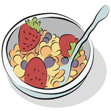 Bowl of Cereal Line Drawing Stock Photos