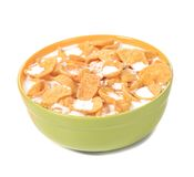 Bowl of cereal with milk. Stock Images
