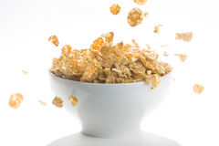 Bowl of cereal with raisins Stock Photo