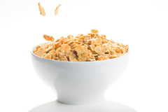 Bowl of cereal with raisins Royalty Free Stock Photo