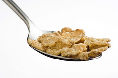 Bowl of cereal with raisins and milk Royalty Free Stock Photos