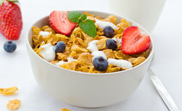 Bowl of cereals Stock Photography