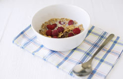 Bowl with cereals Royalty Free Stock Photo