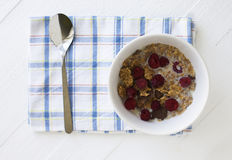 Bowl with cereals Royalty Free Stock Image
