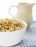 Bowl with cereals ans milk Royalty Free Stock Photos