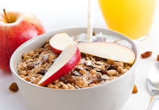 Bowl of cereals and fruit Royalty Free Stock Photos