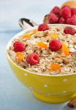 Bowl of cereals muesli Royalty Free Stock Images