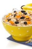 Bowl of cereals muesli on white Stock Image