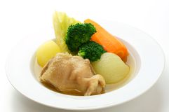 Bowl of chcken pot-au-feu Stock Photography