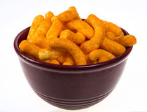 A Bowl of Cheese Puffs Stock Photography