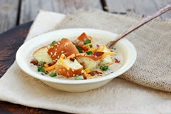 Cheeseburger Soup stock images