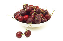 Bowl of cherries Stock Photo