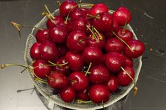 Bowl of Cherries Stock Image
