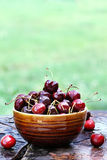 Bowl of Cherries Stock Photos