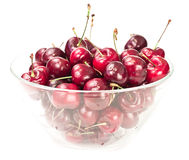 Bowl of cherries Royalty Free Stock Photos