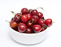 Bowl of Cherries Royalty Free Stock Photography