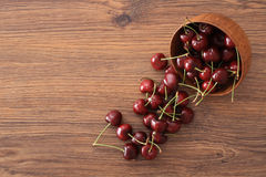 A bowl of cherries Royalty Free Stock Photos