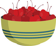 Bowl of Cherries Stock Photo