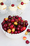 Bowl with cherries Royalty Free Stock Images