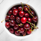Bowl of cherries Stock Photography