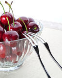 A bowl of cherry Stock Image