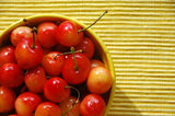 Bowl of cherry Stock Photo