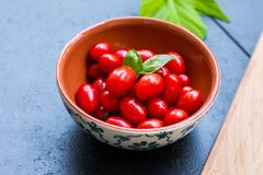 Bowl, Cherry, Tomatoes Royalty Free Stock Images