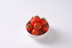 Bowl of cherry tomatoes Stock Photography