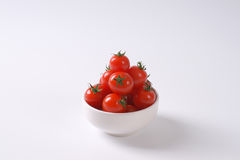 Bowl of cherry tomatoes Stock Photo