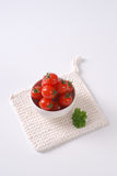 Bowl of cherry tomatoes Stock Images
