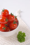 Bowl of cherry tomatoes Royalty Free Stock Photography