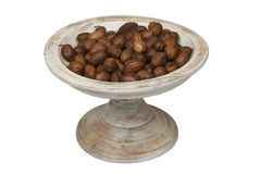 Bowl of chestnuts Royalty Free Stock Photography