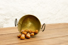Bowl of Chestnuts Stock Photos
