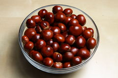 Bowl of chestnuts Royalty Free Stock Image