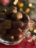 Bowl of Chestnuts in their Shells Stock Image