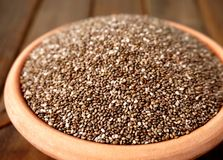 Bowl of chia, closeup Royalty Free Stock Images