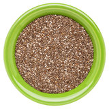 Bowl of chia seeds Stock Image