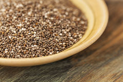 Chia seeds close-up Royalty Free Stock Image