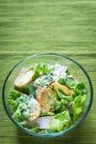 Bowl of chicken Caesar salad Royalty Free Stock Photos