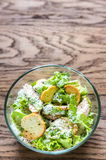 Bowl of chicken Caesar salad Royalty Free Stock Image