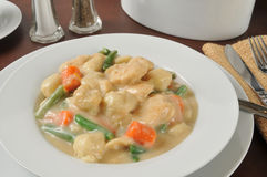 Bowl of chicken and dumplings Royalty Free Stock Photos