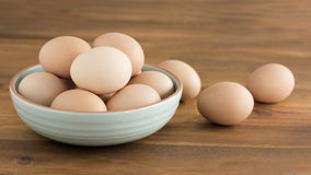 Bowl of chicken eggs. Royalty Free Stock Photos